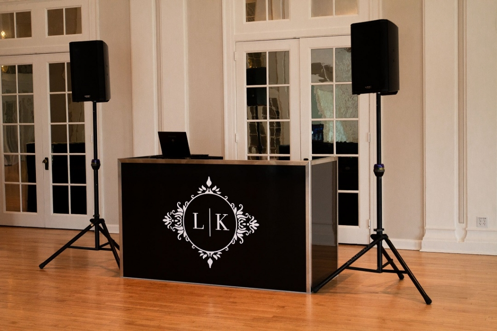 5 DJ Booth - Black Custom Monogram 2