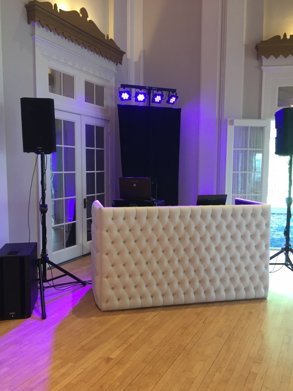 White Tufted DJ booth 4