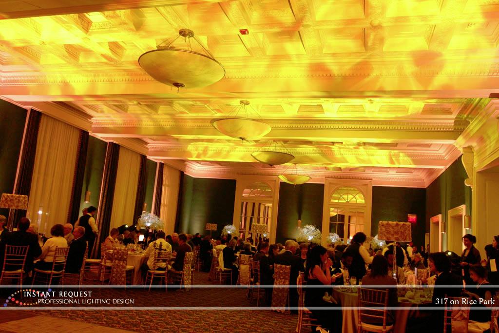 Wedding led uplighting at 317 on Rice Park 1