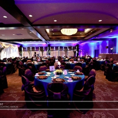 Wedding led uplighting at Brackett's Crossing 1