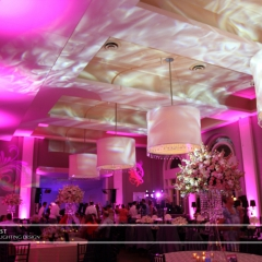 Minneapolis Wedding led uplighting at Calhoun Beach Club 21