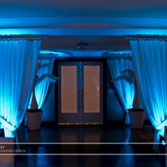 Minneapolis wedding led uplighting at Calhoun Beach Club 1