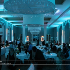 Minneapolis Wedding led uplighting at Calhoun Beach Club 7