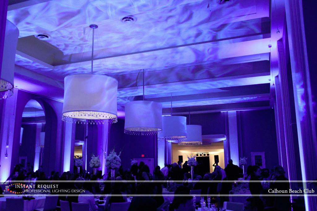 Minneapolis Wedding led uplighting at Calhoun Beach Club 14