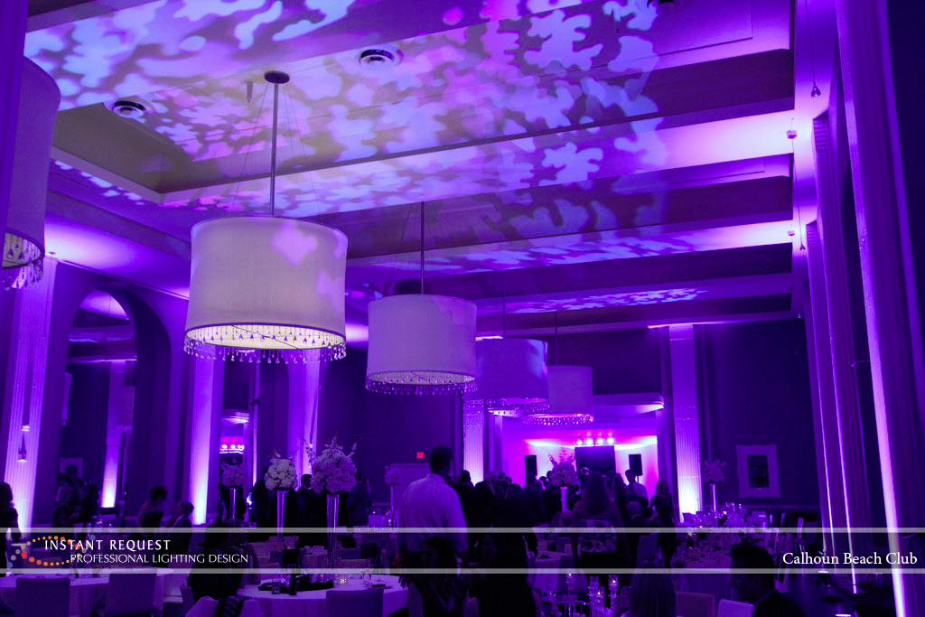 Minneapolis Wedding led uplighting at Calhoun Beach Club 16