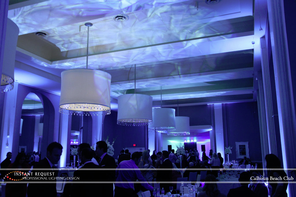 Minneapolis Wedding led uplighting at Calhoun Beach Club 17