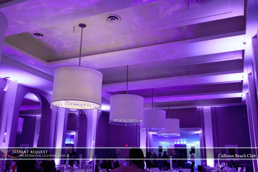 Minneapolis Wedding led uplighting at Calhoun Beach Club 19