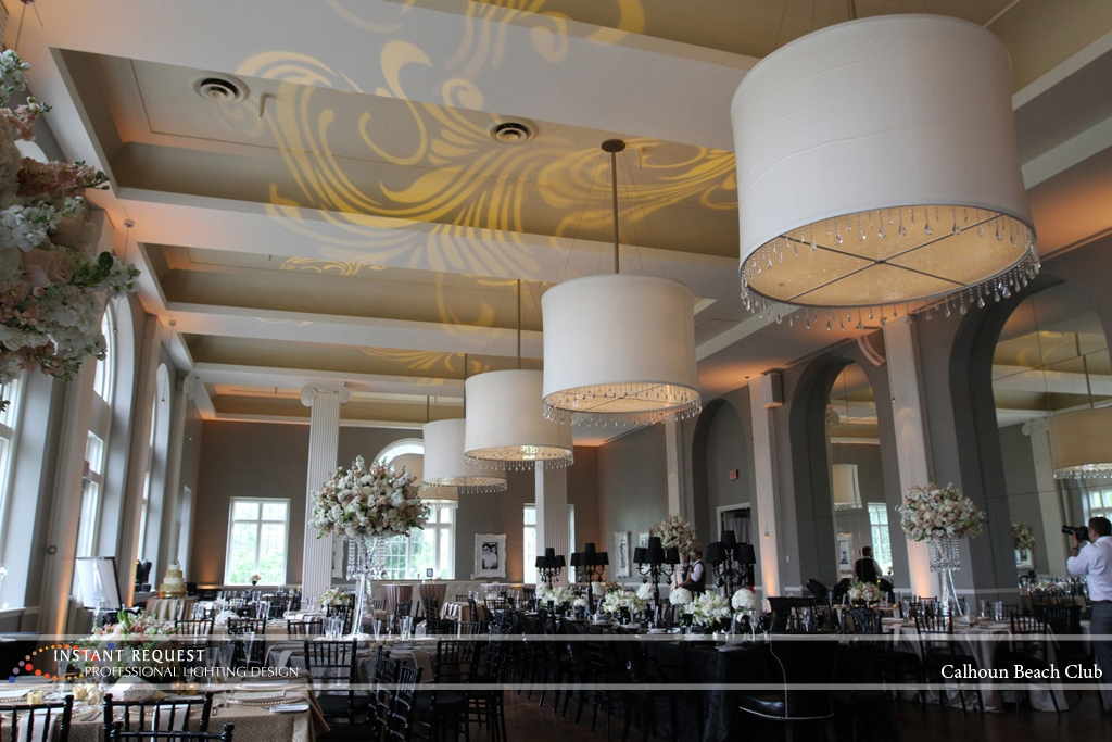 Minneapolis Wedding led uplighting at Calhoun Beach Club 24