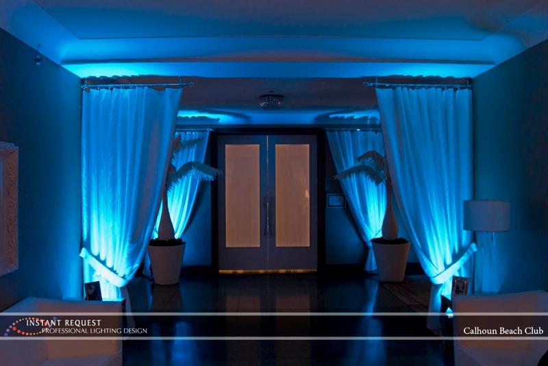 Minneapolis wedding led uplighting at Calhoun Beach Club 1