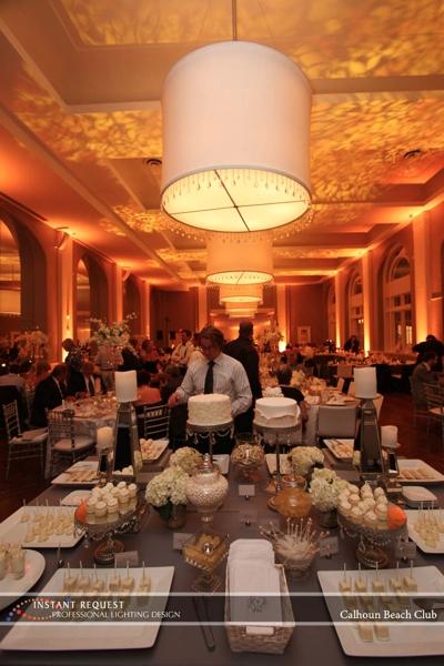 Minneapolis Wedding led uplighting at Calhoun Beach Club 9