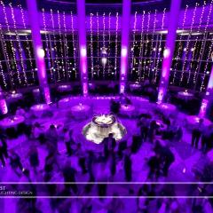 Wedding led uplighting at Carlson Rotunda 17
