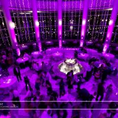Wedding led uplighting at Carlson Rotunda 20