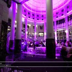 Wedding led uplighting at Carlson Rotunda 22