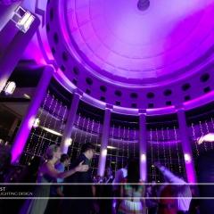 Wedding led uplighting at Carlson Rotunda 24