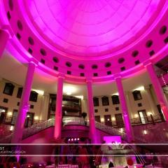 Wedding led uplighting at Carlson Rotunda 30