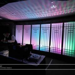 Wedding led uplighting at Carlson Rotunda 12