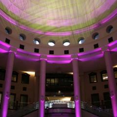 Wedding led uplighting at Carlson Rotunda 14