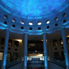 Wedding led uplighting at Carlson Rotunda 15