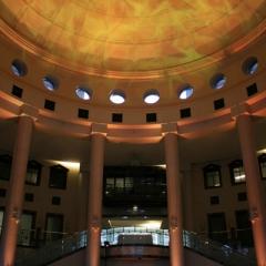 Wedding led uplighting at Carlson Rotunda 16
