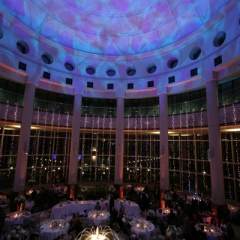 Wedding led uplighting at Carlson Rotunda 8