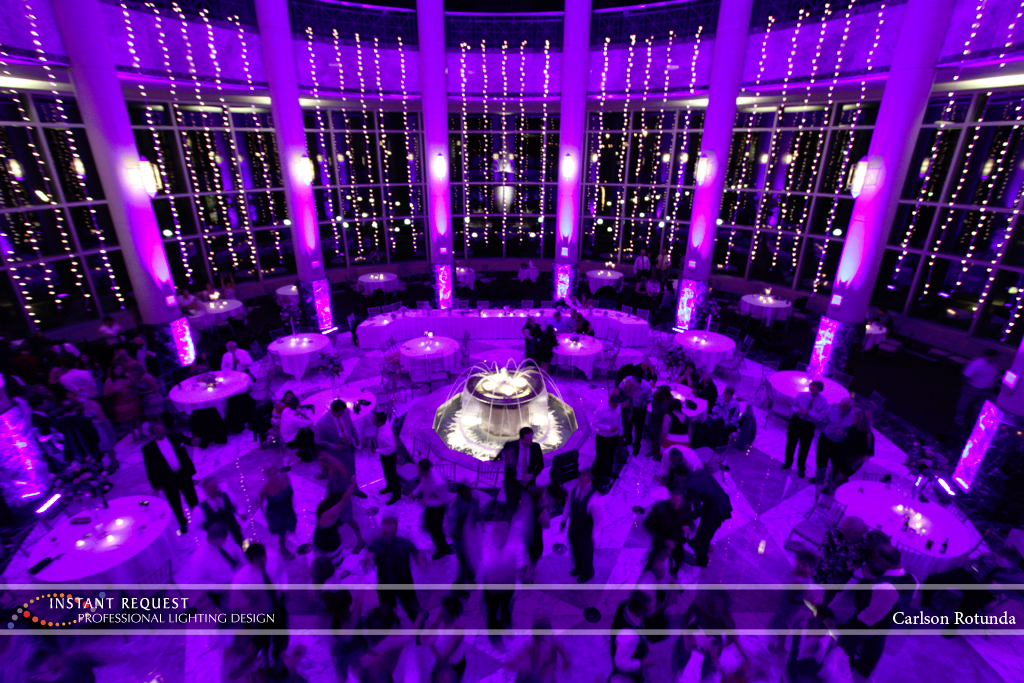 Wedding led uplighting at Carlson Rotunda 17