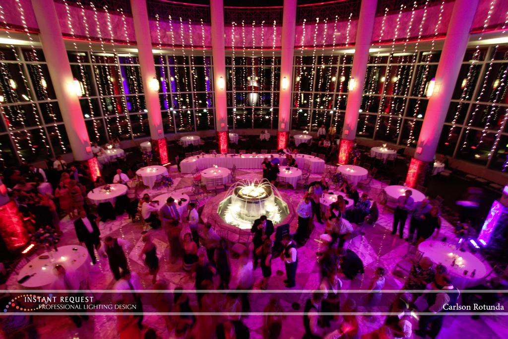 Wedding led uplighting at Carlson Rotunda 18