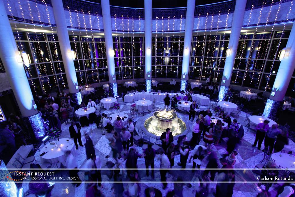 Wedding led uplighting at Carlson Rotunda 19