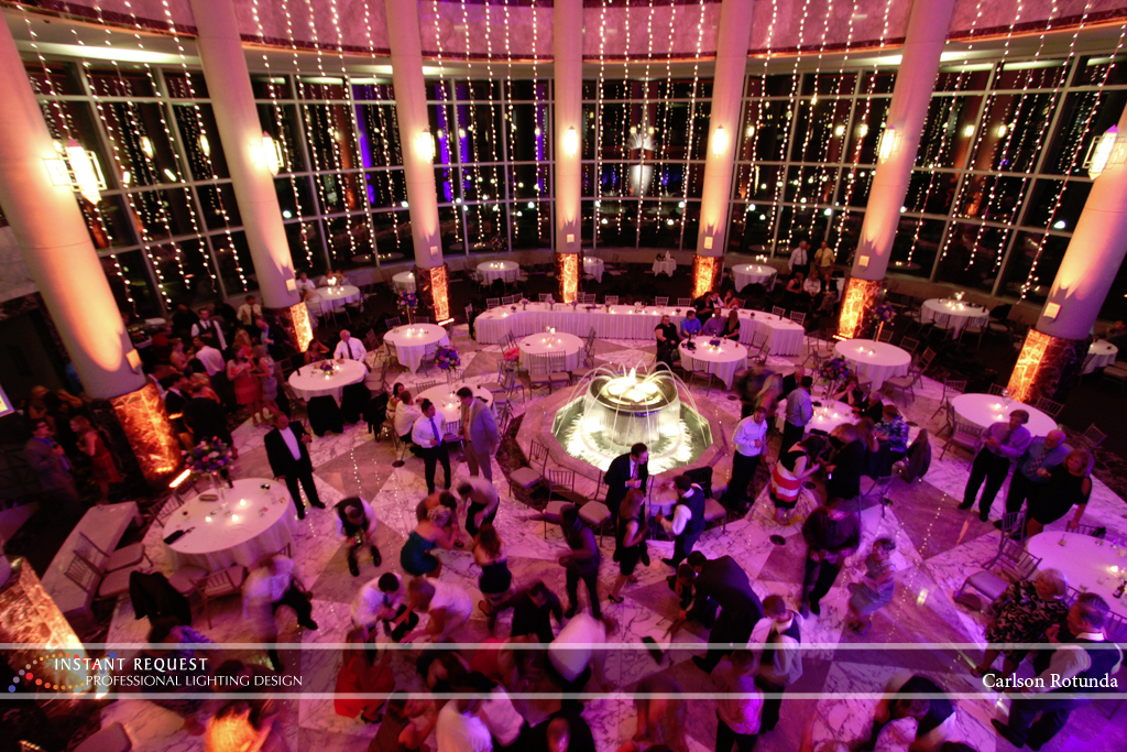 Wedding led uplighting at Carlson Rotunda 21