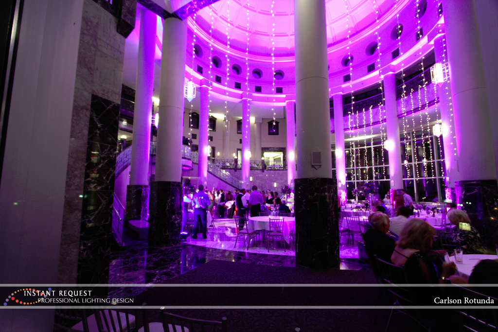 Wedding led uplighting at Carlson Rotunda 22