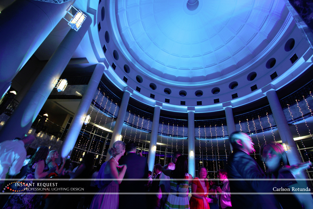 Wedding led uplighting at Carlson Rotunda 23