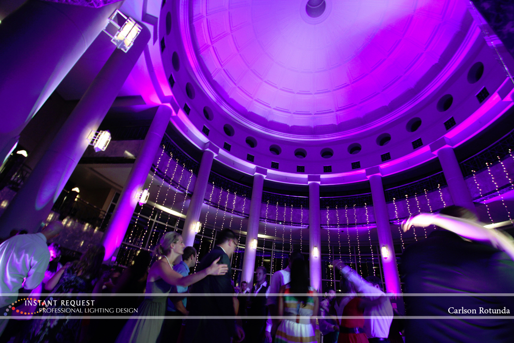 Wedding led uplighting at Carlson Rotunda 24