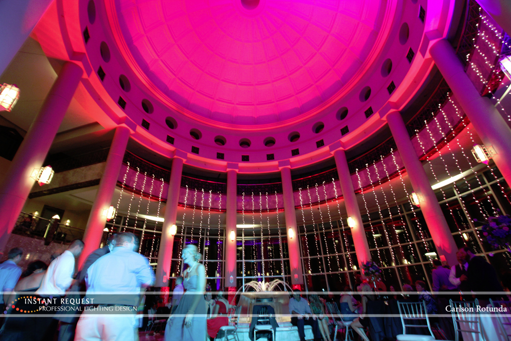 Wedding led uplighting at Carlson Rotunda 25