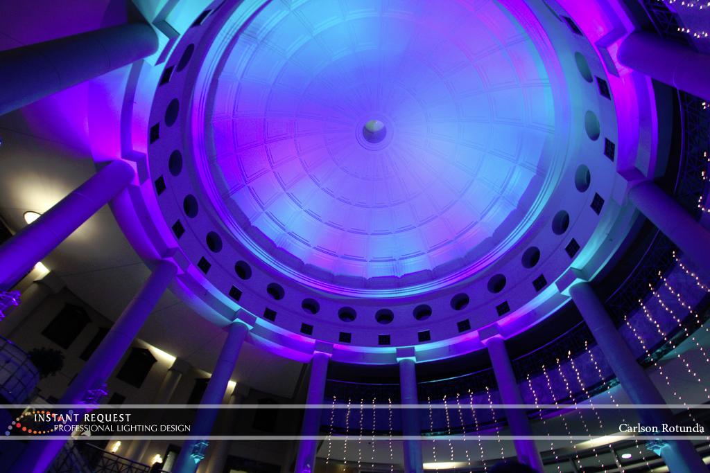 Wedding led uplighting at Carlson Rotunda 26