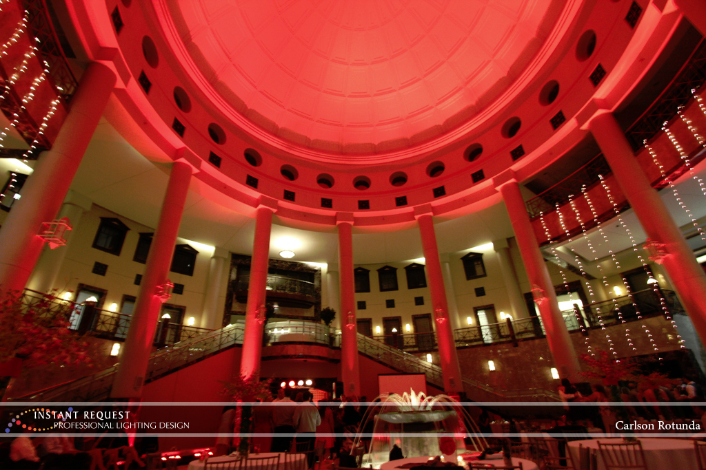 Wedding led uplighting at Carlson Rotunda 27