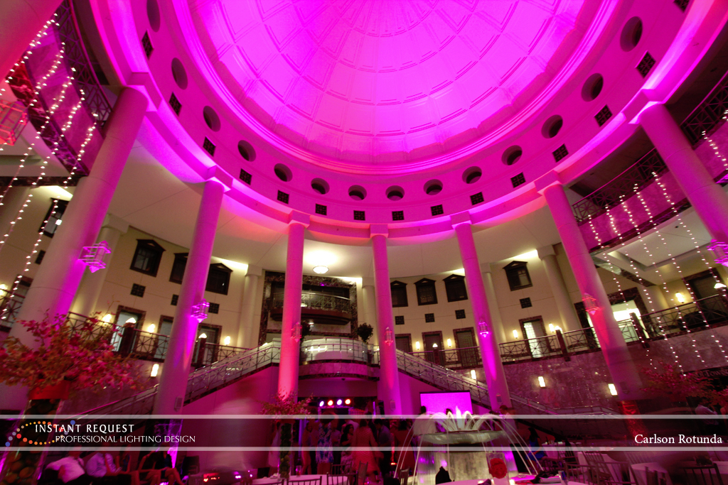 Wedding led uplighting at Carlson Rotunda 30