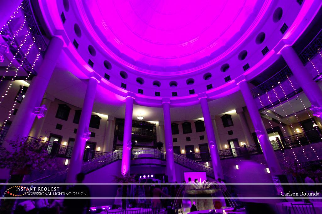 Wedding led uplighting at Carlson Rotunda 31