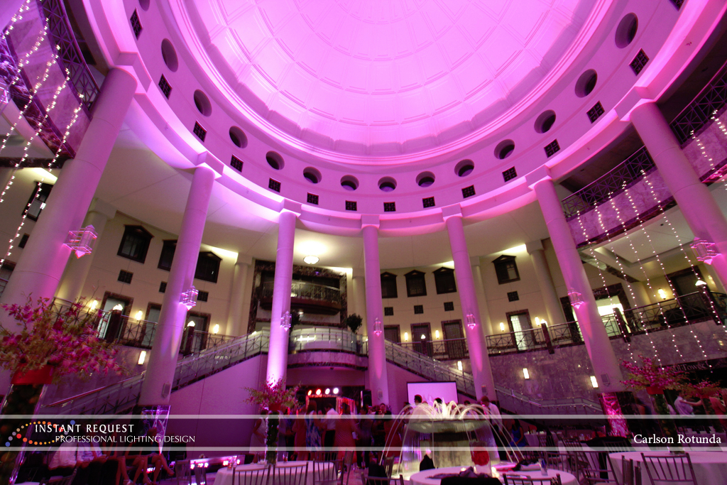 Wedding led uplighting at Carlson Rotunda 32