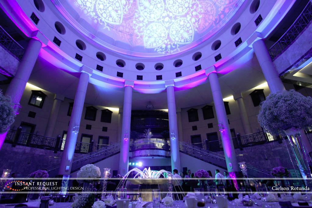 Wedding led uplighting at Carlson Rotunda 35