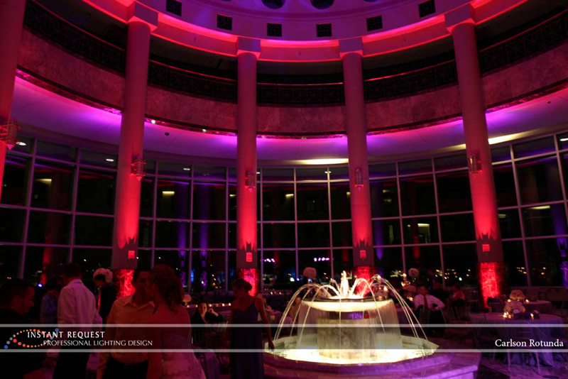 Wedding led uplighting at Carlson Rotunda 5