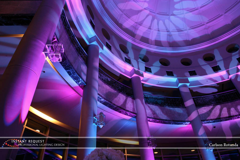 Wedding led uplighting at Carlson Rotunda 6