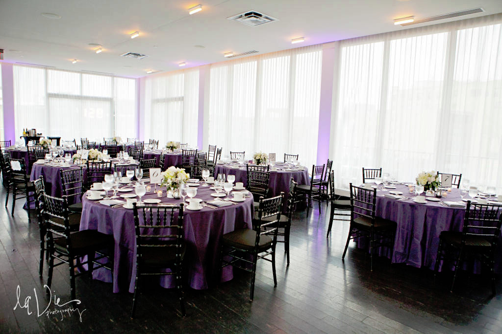 Wedding led uplighting at Chambers 5