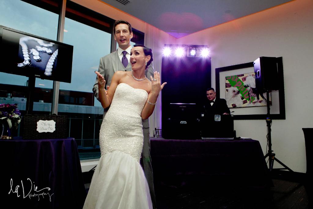 Wedding led uplighting at Chambers 6