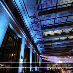 Wedding led uplighting at Christos Union Depot 3
