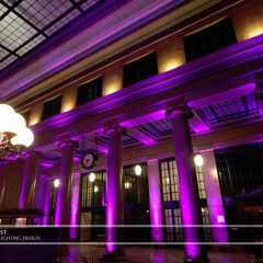 Wedding led uplighting at Christos Union Depot 4