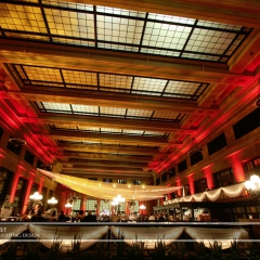 Wedding led uplighting at Christos Union Depot 6