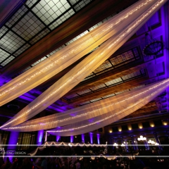Wedding led uplighting at Christos Union Depot 7