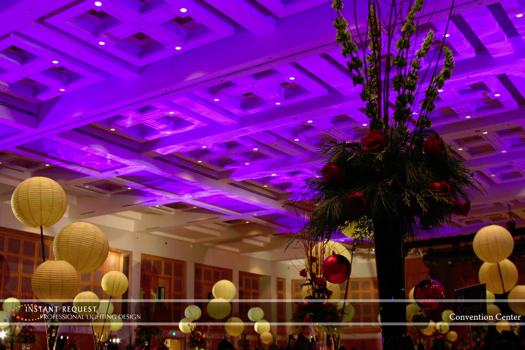 Wedding led uplighting at Minneapolis Convention Center 1
