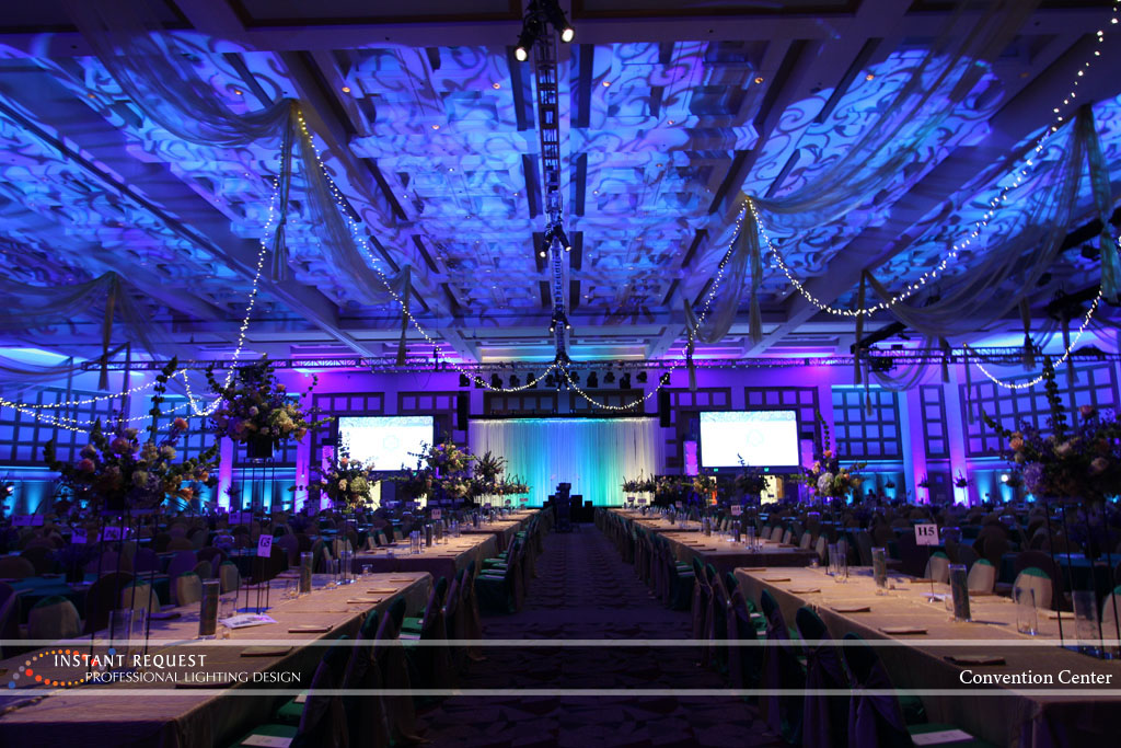 Wedding led uplighting at Minneapolis Convention Center 10