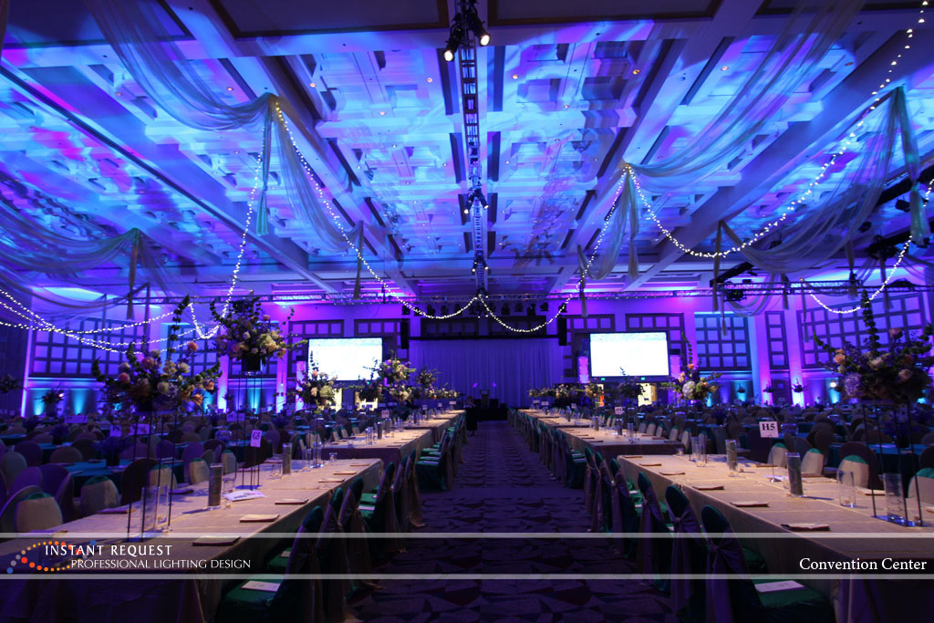 Wedding led uplighting at Minneapolis Convention Center 11