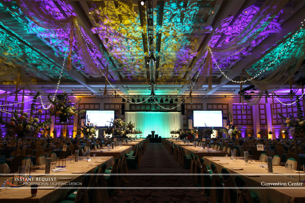 Wedding led uplighting at Minneapolis Convention Center 13